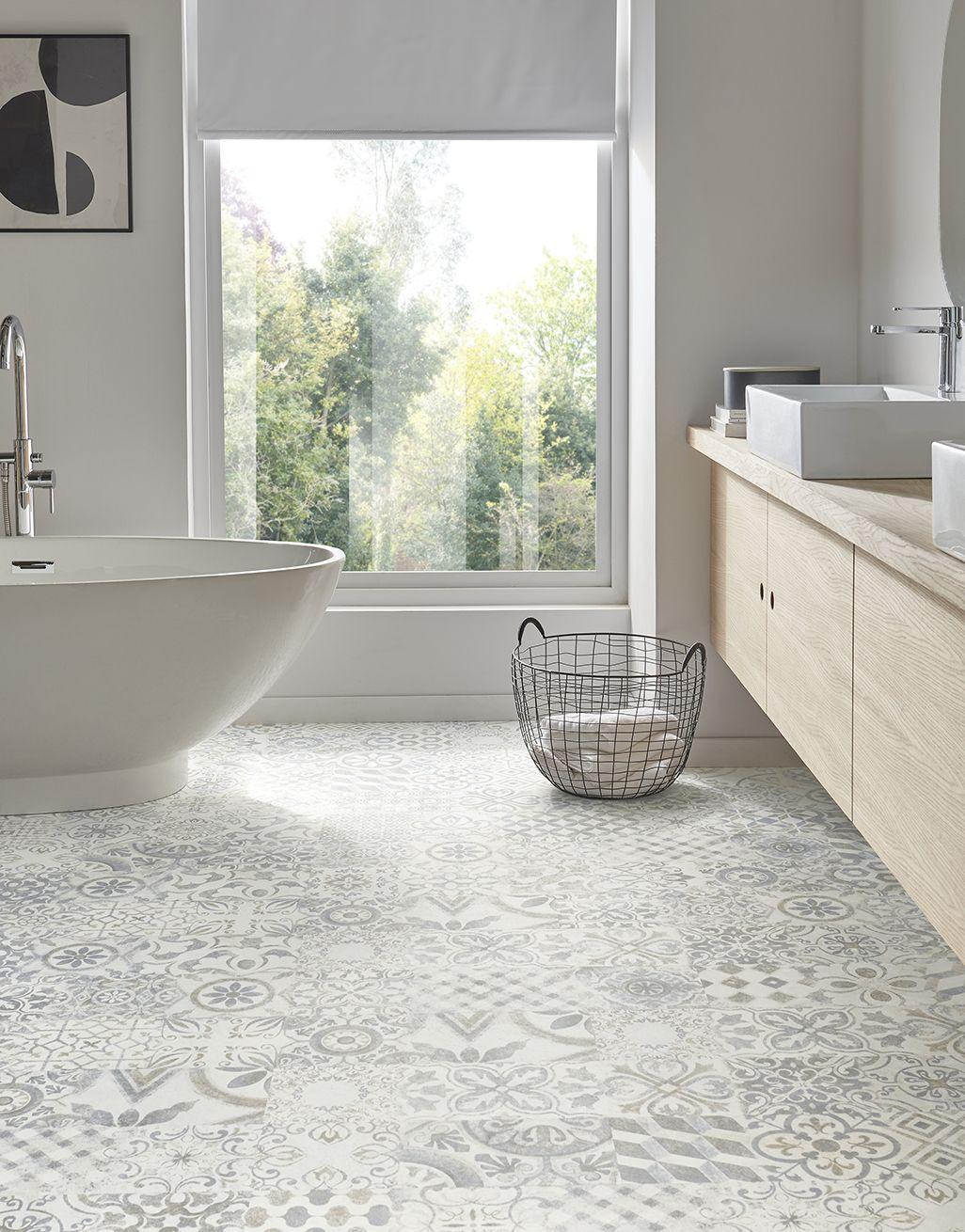 Retro Blue Grey Laminate Flooring, Grey Bathroom Laminate Flooring