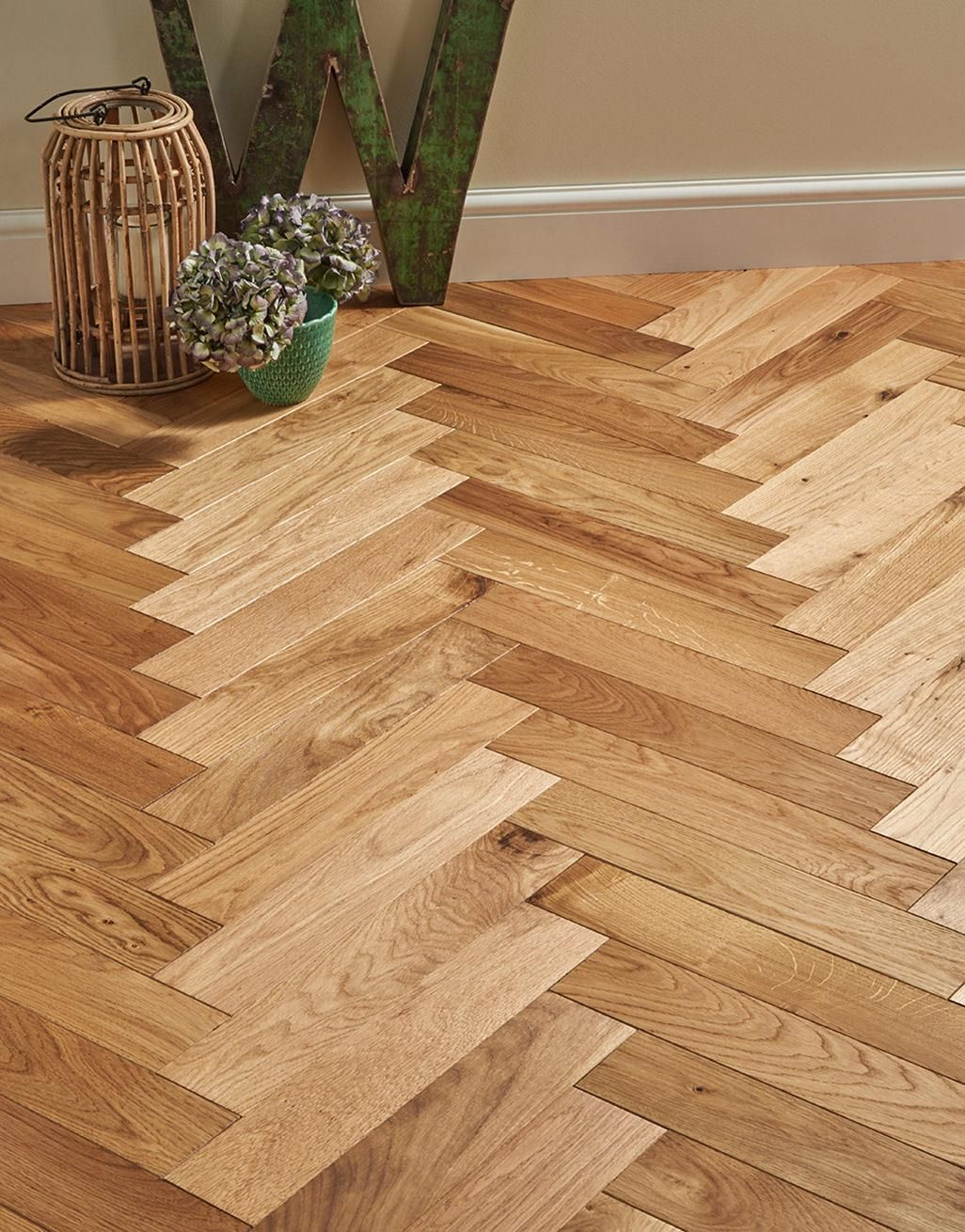 Trade Select Natural Oiled Herringbone Parquet Oak Solid Wood Flooring