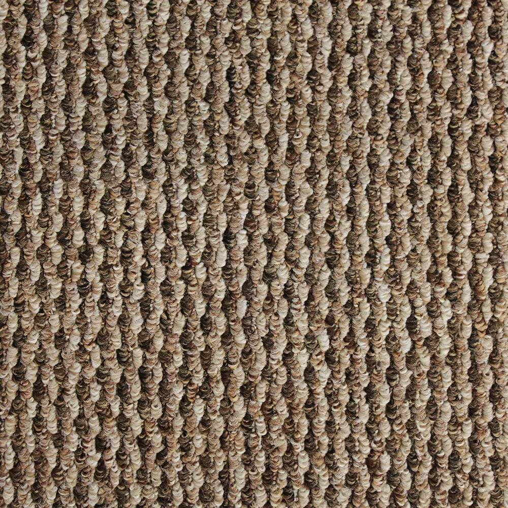 Quality brown hard wearing durable felt backed loop for Durable carpet for stairs