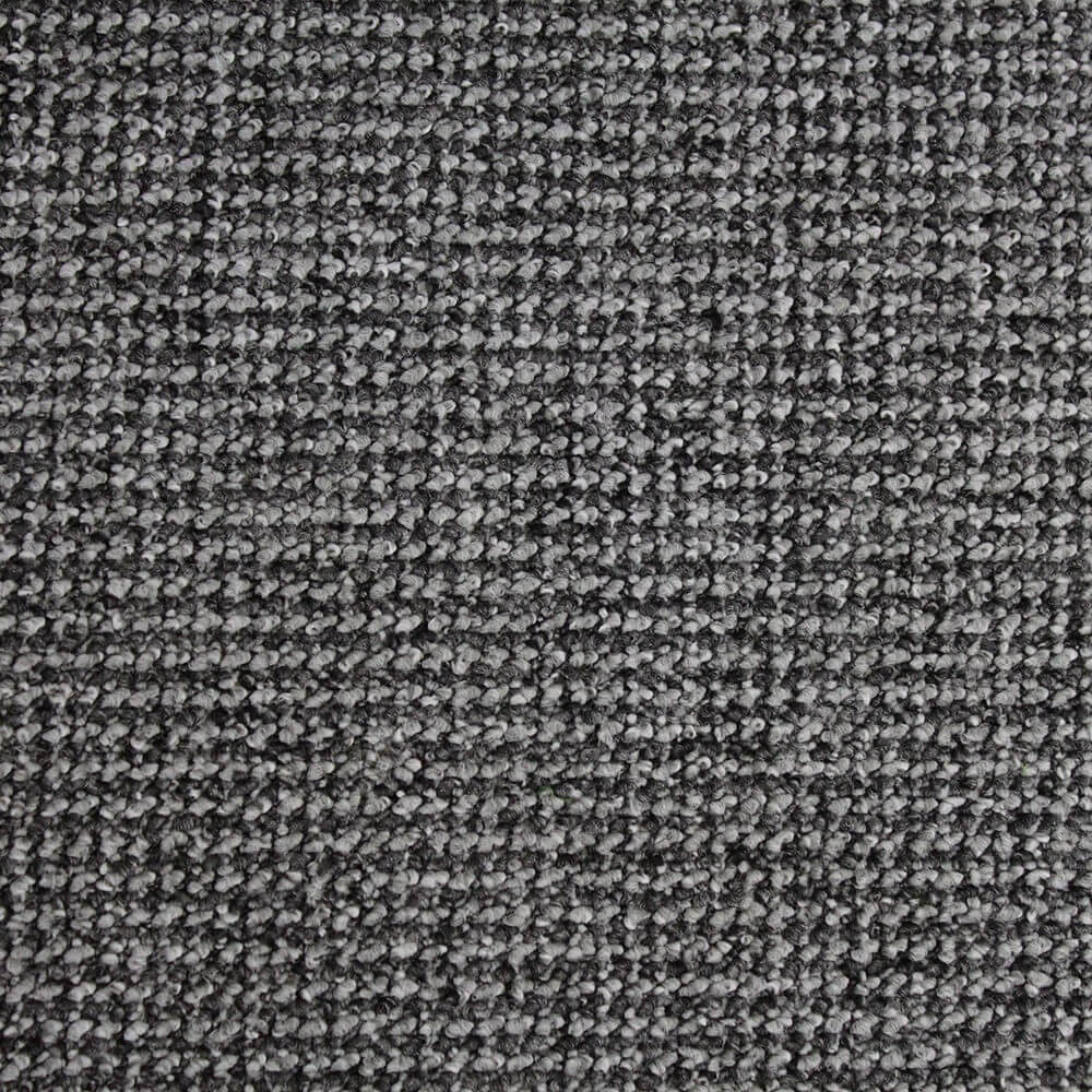 Quality black grey textured loop pile carpet ebay for Black and white berber carpet