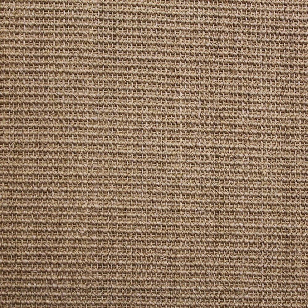 Light Brown Sisal Carpet Mini Boucle Design
