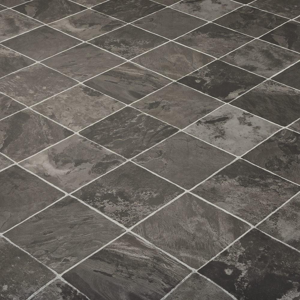 Weird Vinyl Flooring Design : M wide high quality vinyl flooring dark tiles