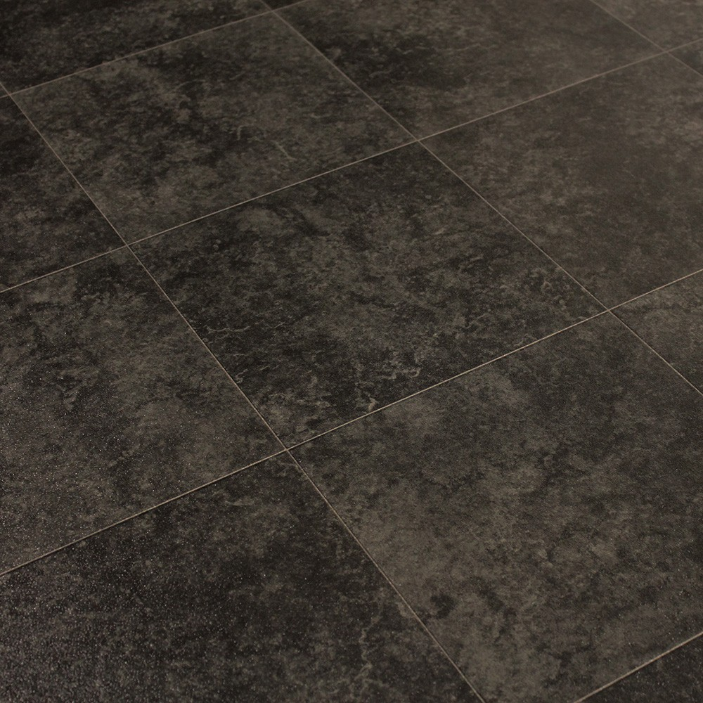 Black Linoleum Tile Flooring Designs