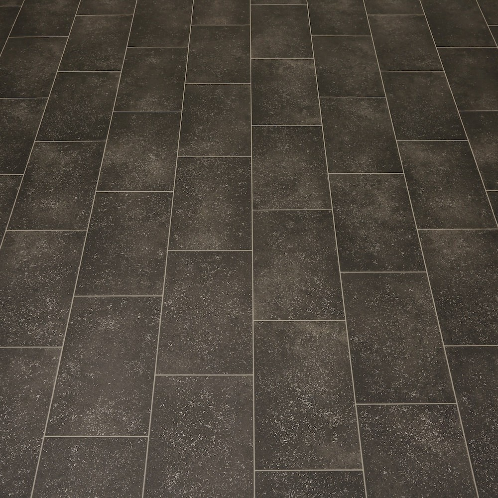 2m wide high quality vinyl flooring dark tile designs for Quality linoleum flooring