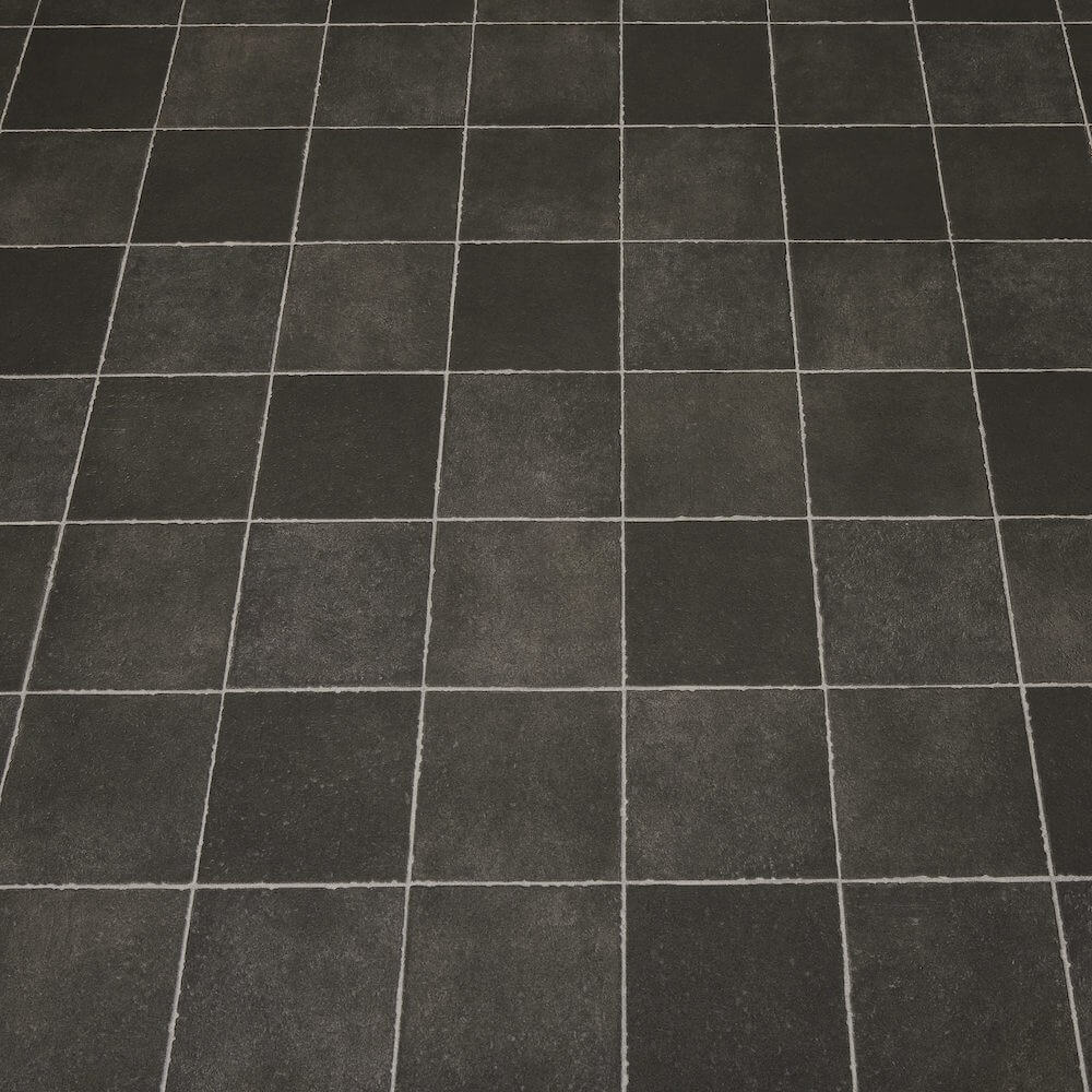 Cheap black tile flooring