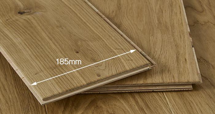 Carpenters Choice Oak 185mm Wide Brushed & Lacquered - Descriptive 2
