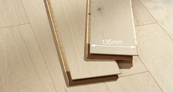 Kensington Cappuccino Oak Brushed & Lacquered Engineered Wood Flooring - Descriptive 2