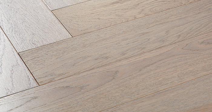 Marylebone Apollo Grey Oak Brushed & Lacquered Engineered Wood Flooring - Descriptive 1