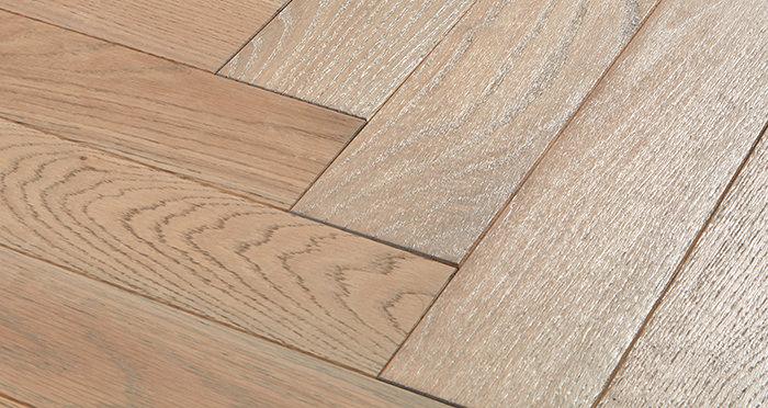 Park Avenue Herringbone Silk Grey Oak Solid Wood Flooring - Descriptive 1