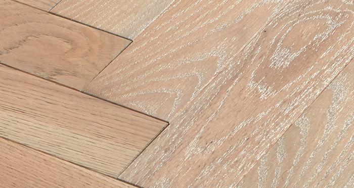 Park Avenue Herringbone Silk Grey Oak Solid Wood Flooring - Descriptive 4