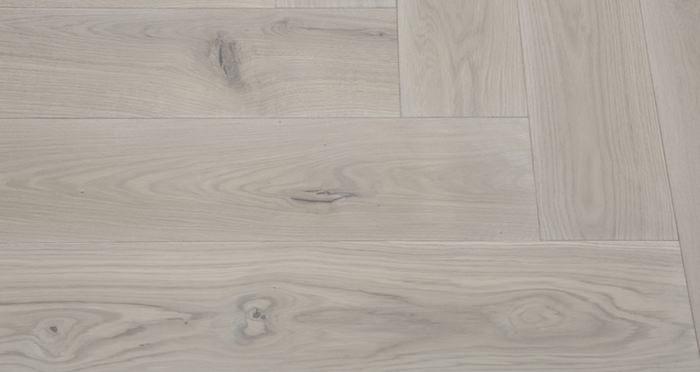 Prestige Herringbone Silk Grey Oak Oiled Engineered Wood Flooring - Descriptive 6