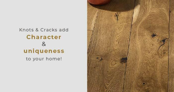 Kingswood Oak Distressed Brushed & Lacquered Engineered Wood Flooring - Descriptive 5