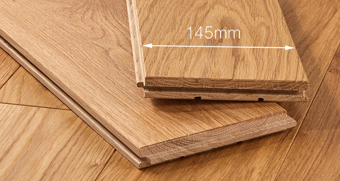Deluxe Natural Oak Solid Wood Flooring - Descriptive 3