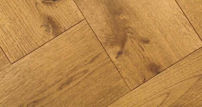 Prestige Herringbone Golden Oak Oiled Engineered Wood Flooring - Descriptive 2
