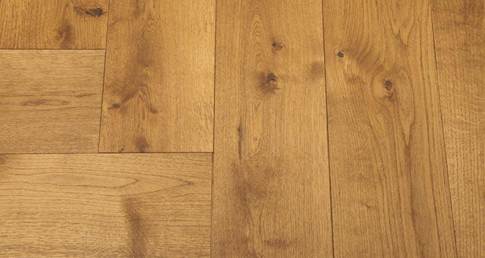 Prestige Herringbone Golden Oak Oiled Engineered Wood Flooring - Descriptive 4