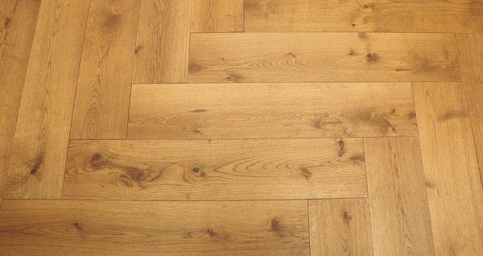 Prestige Herringbone Golden Oak Oiled Engineered Wood Flooring - Descriptive 6