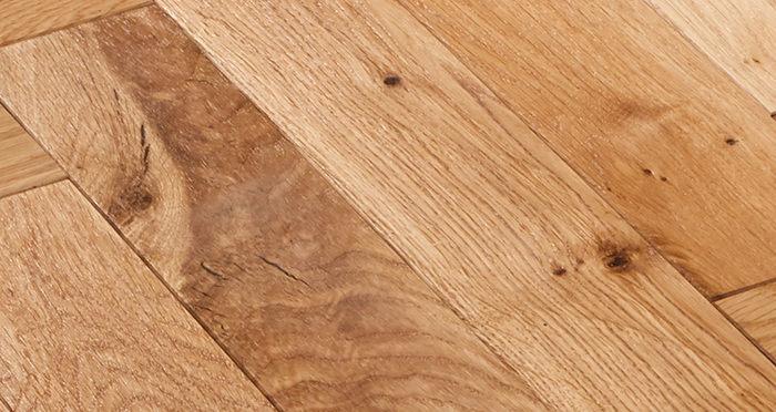 Park Avenue Herringbone Natural Oak Solid Wood Flooring - Descriptive 2