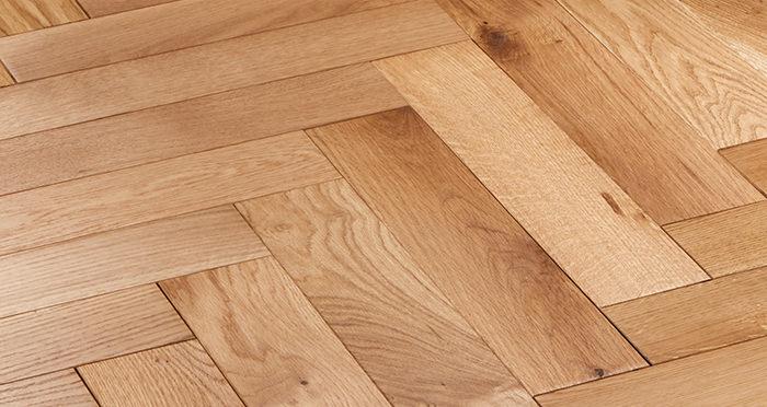Park Avenue Herringbone Natural Oak Solid Wood Flooring - Descriptive 5