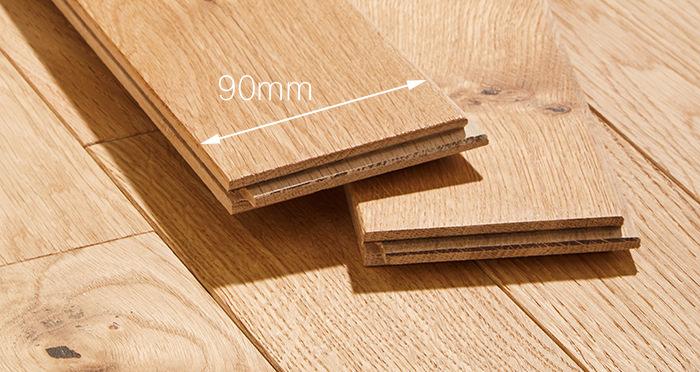 Natural Oak 90mm Oiled Solid Wood Flooring - Descriptive 4