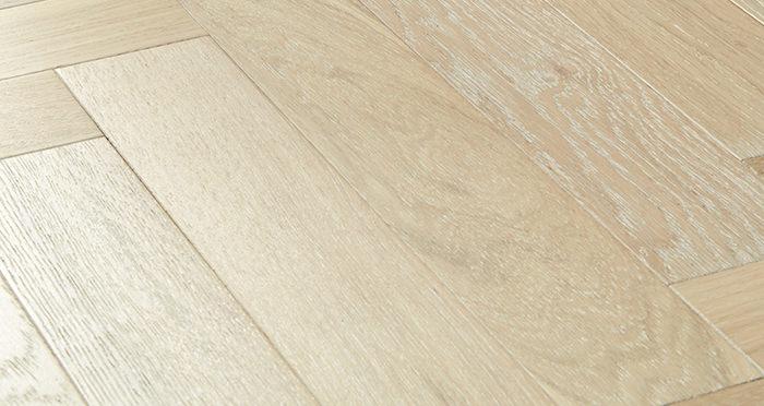 Branscombe Whitewashed Coastal Herringbone Oak Engineered Wood Flooring - Descriptive 1