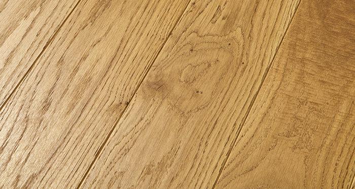 Elegant Golden Oak Brushed & Oiled Solid Wood Flooring - Descriptive 1