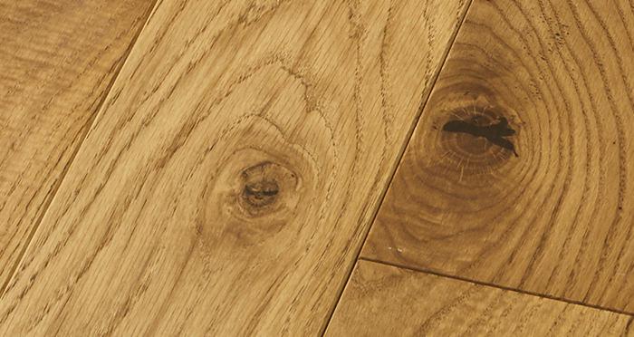 Elegant Golden Oak Brushed & Oiled Solid Wood Flooring - Descriptive 2