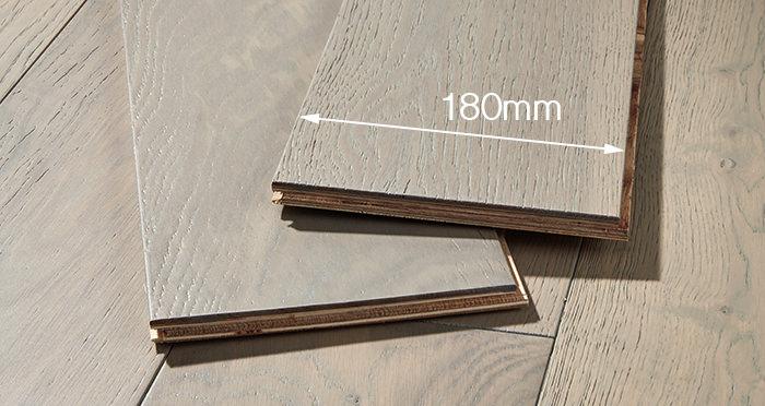 Manhattan Apollo Grey Oak Brushed & Lacquered Engineered Wood Flooring - Descriptive 4