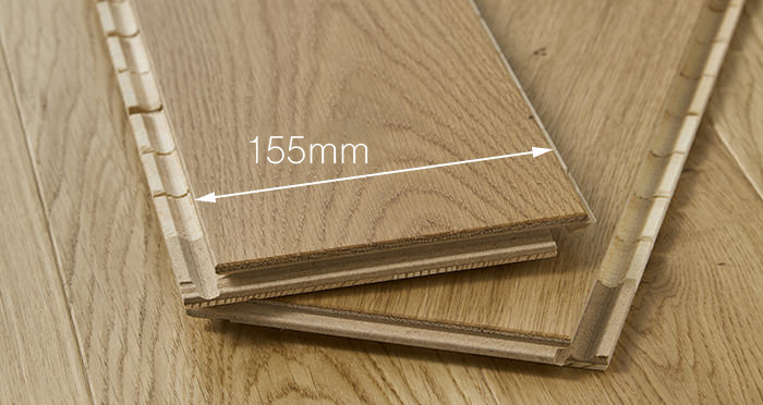 Trade Select 14mm x 155mm Natural Brushed & Oiled Engineered Wood Flooring - Descriptive 2
