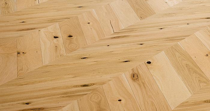 Chelsea Chevron - Woodland Oak Brushed & Lacquered Engineered Wood Flooring - Descriptive 2