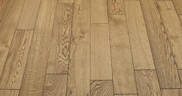 Aged & Rustic Golden Oak Brushed & Oiled Solid Wood Flooring - Descriptive 2