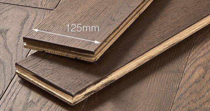 Elegant Chocolate Oak Brushed & Oiled Solid Wood Flooring - Descriptive 3
