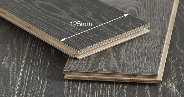 Studio Graphite Oak Brushed & Oiled Engineered Wood Flooring - Descriptive 2