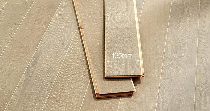 Salcombe Grey Pebble Oak Engineered Wood Flooring - Descriptive 2