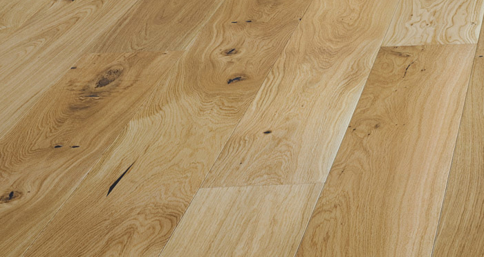 Trade Select Natural 14mm x 130mm Lacquered Engineered Wood Flooring - Descriptive 1