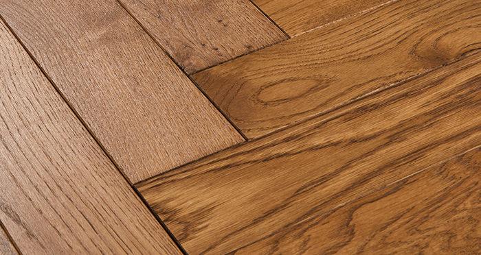 Park Avenue Herringbone Cinnamon Oak Solid Wood Flooring - Descriptive 1