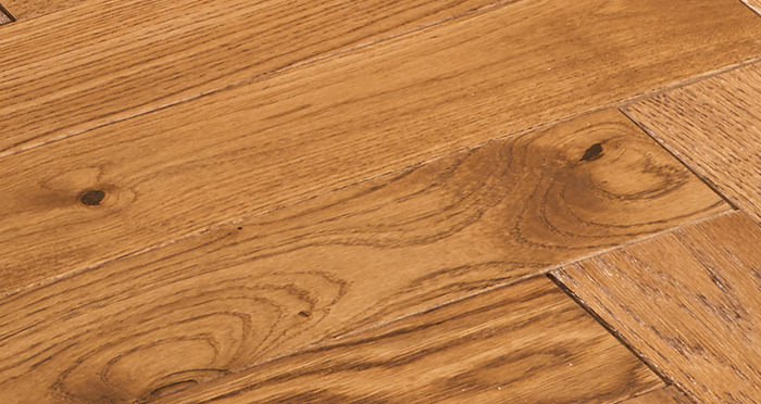 Park Avenue Herringbone Cinnamon Oak Solid Wood Flooring - Descriptive 2