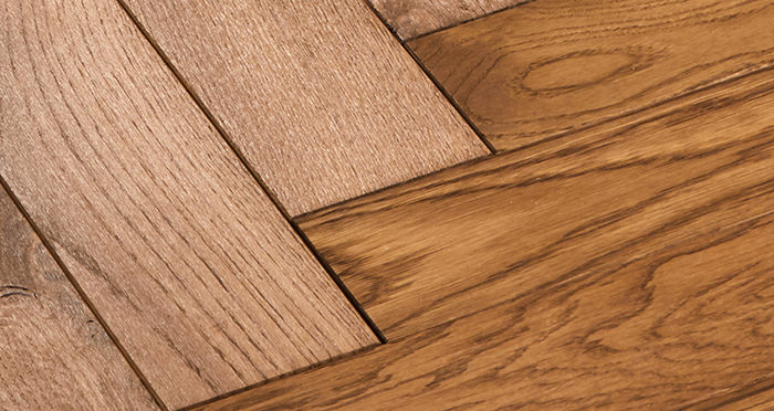 Park Avenue Herringbone Cinnamon Oak Solid Wood Flooring - Descriptive 4