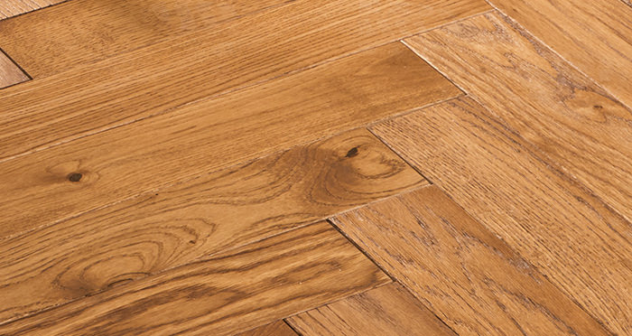 Park Avenue Herringbone Cinnamon Oak Solid Wood Flooring - Descriptive 5