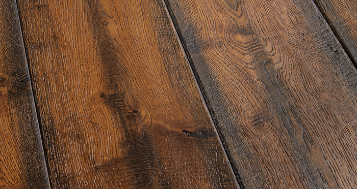 Bronzed Old French Oak Lacquered Engineered Wood Flooring - Descriptive 1