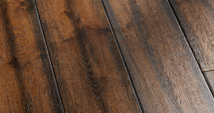 Bronzed Old French Oak Lacquered Engineered Wood Flooring - Descriptive 2
