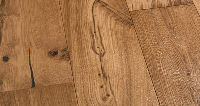 Barn Golden Smoked Oak Brushed & Lacquered Engineered Wood Flooring - Descriptive 6
