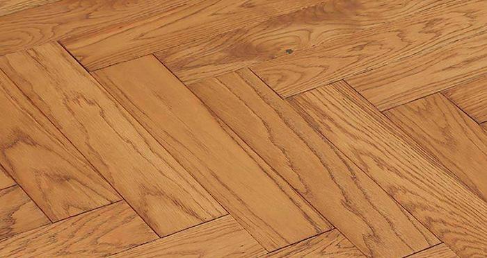 Park Avenue Herringbone Golden Oak Solid Wood Flooring - Descriptive 1