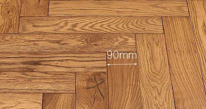 Park Avenue Herringbone Golden Oak Solid Wood Flooring - Descriptive 3