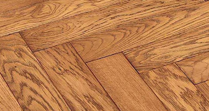 Park Avenue Herringbone Golden Oak Solid Wood Flooring - Descriptive 4