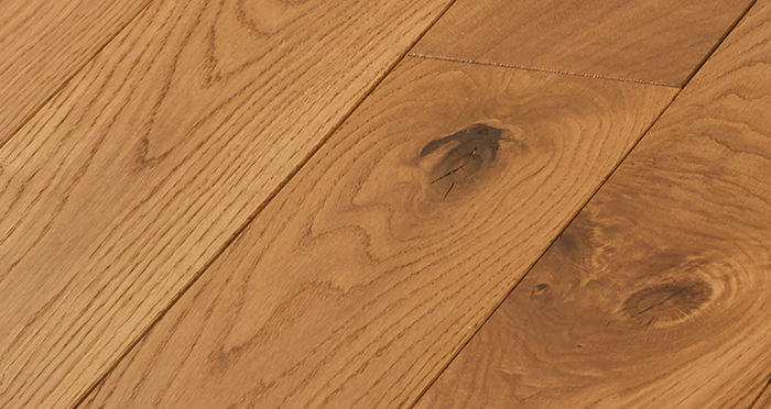 Deluxe Golden Oak Solid Wood Flooring - Descriptive 2