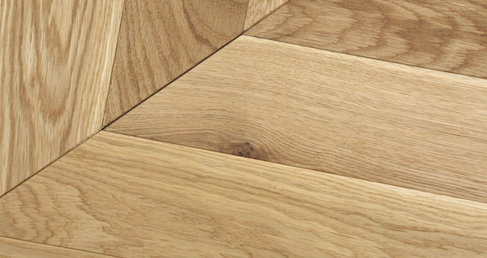 Park Avenue Chevron Natural Oak Brushed & Oiled Solid Wood Flooring - Descriptive 1