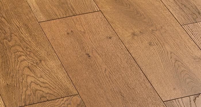 Manhattan Golden Smoked Oak Engineered Wood Flooring - Descriptive 5