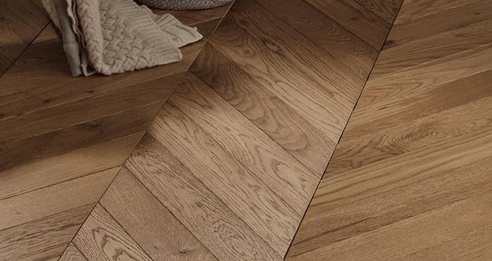 Park Avenue Chevron Espresso Oak Brushed & Oiled Solid Wood Flooring - Descriptive 5