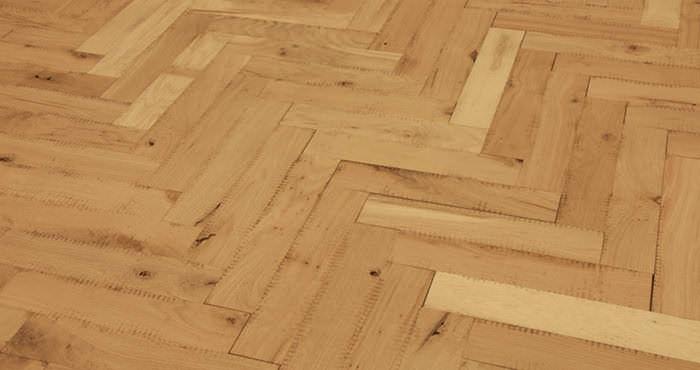 Unfinished Parquet Oak Solid Wood Flooring - Descriptive 2