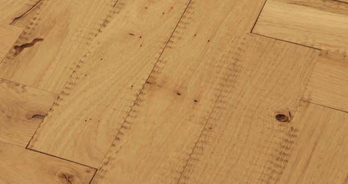 Unfinished Parquet Oak Solid Wood Flooring - Descriptive 3